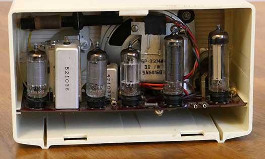 vista interna del circuito a 5 valvole Zephyr 5005