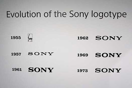 Evoluzione grafica del marchio Sony