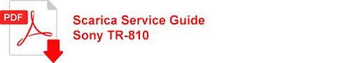 scarica service guide TR 810